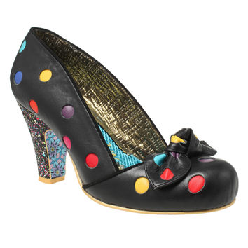Black Spot the Dot Heels from Irregular Choice