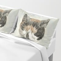 Cat napping Pillow Sham by anipani
