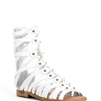 Sale-white Gladiator Studded Sandals