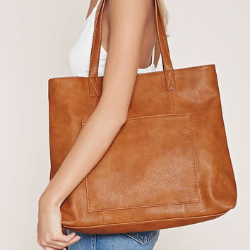 Faux Leather Pocket Tote | Forever 21 - 1000205866