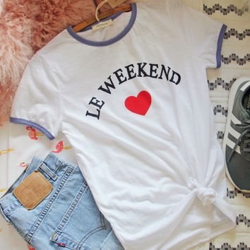 Le Weekend Cozy Tee