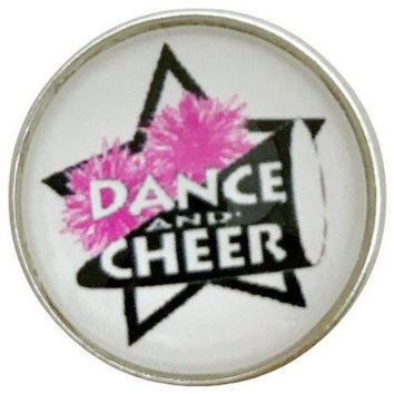 Dance-Cheer Snap Charm 20mm  for Snap Jewelry