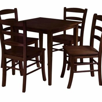 Winsome Woods Groveland 5pc Square Dining Table