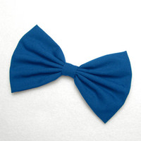 Royal Blue Hair Bow Clip hair accessories for women bow tie Bow Blue bow for hair bow fashion accessories for girls Royal blue hair clip
