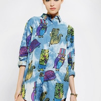 Urban Outfitters - Lazy Oaf Stick 'Em Up Button-Down Tunic
