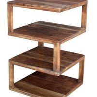 Bengal Manor Mango Wood Architectural Square End Table