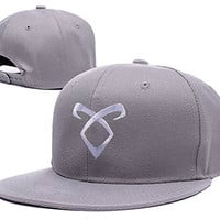 ZZZB Shadowhunters TV Show 2015 Logo Adjustable Snapback Embroidery Hats Caps - Grey