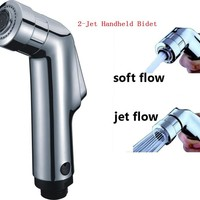 2-Jet High Quality Hand Held Bidet Portable Bidet Shower Hand Held ABS Spray Chrome Plated Bidet Faucet Free Shipping
