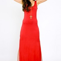 Danger Zone Red Maxi Dress - $68