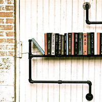 Industrial Pipe Bookshelf Level 3 by stellableudesigns on Etsy
