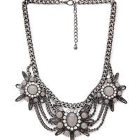 Draped Floral Statement Necklace