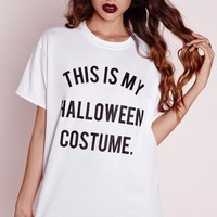 Missguided - This Is My Halloween Costume T Shirt White