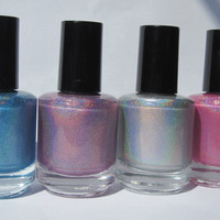 Set of 4 Full Size Handmade Spectraflair Nail Polishes