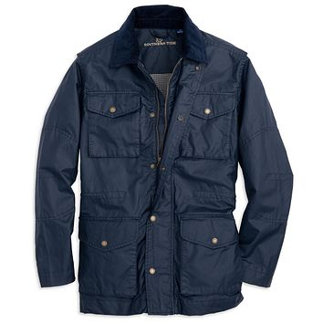 Maritime Wax Jacket in Blue Depths by Southern Tide