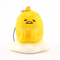 2016 Cute 5cm mini squishy gudetama cartoon mascot sweet cream odor collectibles kids toy gift