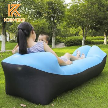 High Quality Sleeping Bag Fast Inflatable Camping Air Bed