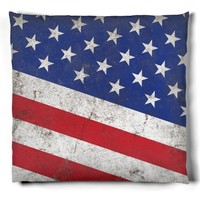 Vintage Stars and Stripes American Flag Patriotic Pillow