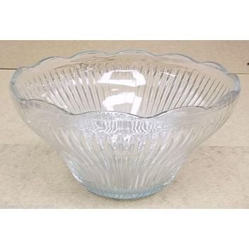 Glass Punch Bowl 12 1/2in x 12 1/2in x 7in