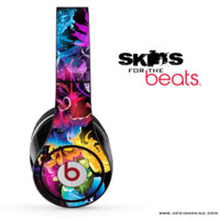 Neon Abstract Flower Skin for the Beats by Dre