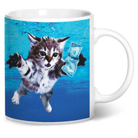 Cat Cobain Coffee Mug
