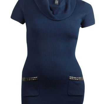 INC International Concepts Women's Stud Pocket Sweater