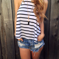 City Stripes Racerback Tank - FINAL SALE