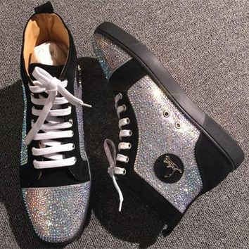 Christian Louboutin CL Rhinestone Style #1962 Sneakers Fashion Shoes Best Deal Online