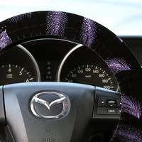 Steering Wheel Cover Bow Wheel Car Accessories Lilly Heated Interior Aztec Girls Monogram Tribal Camo Cheetah Sterling Chevron Navy Velvet