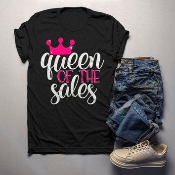 Men's Funny Black Friday T Shirt Queen Of Sales Shirts Shopping Tee