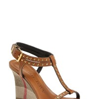 Women's Burberry 'Harbeton' Wedge Sandal,