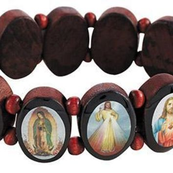Oval Panels Devotional Saints Bracelet
