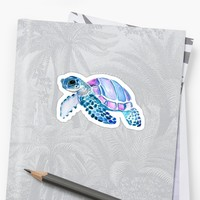 'little turtle' Sticker by stickersnstuff