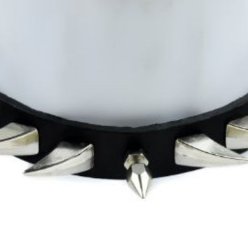 Spike Claw Gothic Leather Choker Necklace