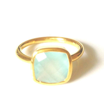 Claire Green Chalcedony Ring