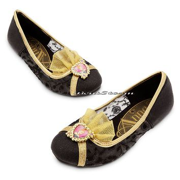 Licensed cool FROZEN Anna Girls Costume Flat Shoes Heart Cameo Glitter 11/12-2/3 Disney Store