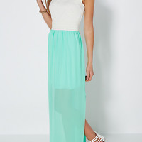 Mint Smocked Maxi Dress