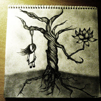 Emo Drawing by AudreySours on Etsy