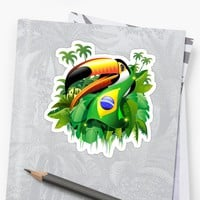Brazil Flag Soccer Supporters, Toucans, and Beautiful Girls!