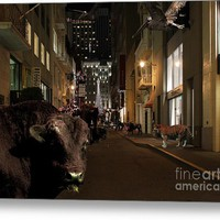 When The Lights Go Down In The City Metal Print