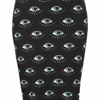 **ALL EYES ON ME SKIRT BY ILLUSTRATED PEOPLE