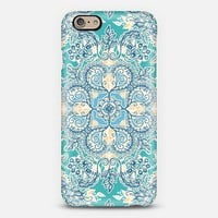 Gypsy Floral in Teal and Blue iPhone 6 case by Micklyn Le Feuvre   Casetify