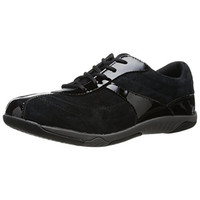 Propet Womens Jodie Suede Patent Trim Fashion Sneakers