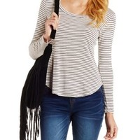 Striped Long Sleeve Tee by Charlotte Russe