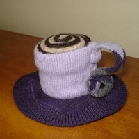 Pincushion Teacup Lilac and Purple by BreitWerk on Zibbet