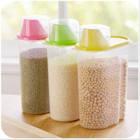 Transparent Plastic Storage Box New Dry Dried Food Storage Box Clear Cereal Container Box 1.8L 2.5L