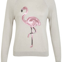 Flamingo Sequin Jumper - Knitwear - Clothing