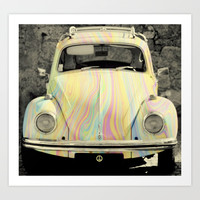 groovy beetle Art Print by ingz