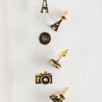 Urban, French Paris Perfection Earring Set by ModCloth