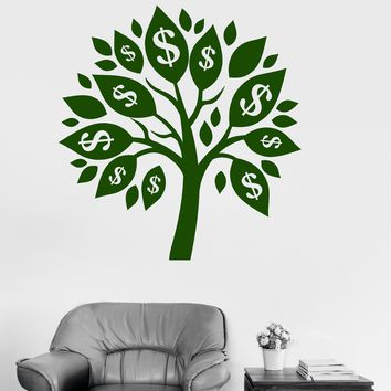 Wall Decal Vinyl Money Tree Talisman Success Room Decoration Stickers Unique Gift (ig3132)