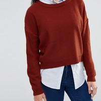 Brave Soul Round Neck Jumper at asos.com